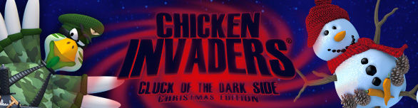 Игра «Вторжение кур 5. Темный клюв. Christmas Edition» [chicken-invaders-5-cluck-of-the-dark-side-christmas-edition]